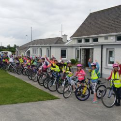 Our senior students head off on their school cycle.