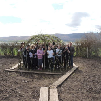 Our willow tunnel is done!