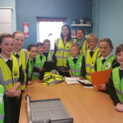 Our Green School Committee meet with An Taisce's Fiona Barry